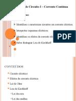 Analise circuito I- corrente Continua- Aula 03 Pate 1.pptx