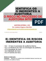 O risco no processo de auditoria interna