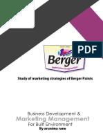BD & Marketing Assignment Report