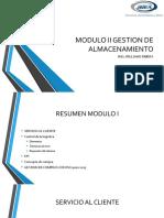 GESTION DE ALMACENAMIENTO