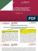 Propuesta Mexico ante la ONU