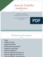 Estrutura do Trabalho Académico