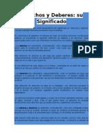 Derechos y Deberes (actividad N°2)