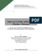 Notes du cours Aquaculture Appliquée