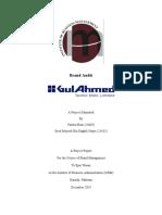 Gul Ahmed brand report