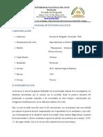 Programa de estudios Planificación