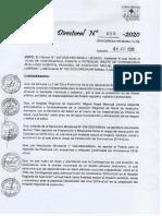 Resolución Directoral N° 55 - 2020 _Plan de contingencia