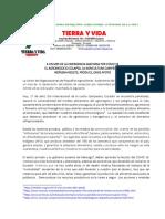 CARTA DE TIERRA y VIDA