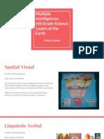 middle school science- multiple intelligences lesson plan zainab anjum
