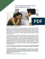 Violencia familiar en épocas de aislamiento social - Fernanda Bobadilla
