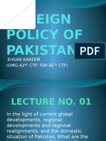 Foreign Policy of Pakistan-Lecture