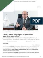 Entrevista a Carlos Linares presidente del directorio de Cofide
