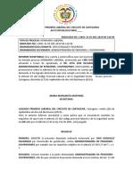 JUZGADO PRIMERO LABORAL DEL CIRCUITO DE CARTAGENA 2