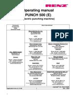 Renz-500-ES-Professional-Heavy-Duty-Punch-user-manual