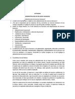 ACTIVIDAD ADMINISTRACION DE RH