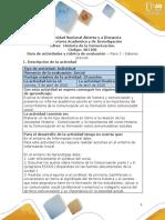 Guía de actividades y rúbrica de evaluación - Paso 1 - Saberes previos