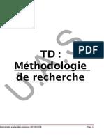 TD1 Methodologie de recherche Ch 2