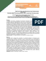 NECESSIDADES FORMATIVAS PARA USO PEDAGÓGICO DAS TECNOLOGIAS ASSISTIVAS TRAINING NEEDS FOR PEDAGOGICAL USE OF ASSISTANT TECHNOLOGIES