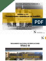 Normativa Condiciones Generales  del  Diseño 2200
