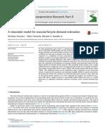 A sinusoidal model for seasonal bicycle demand estimation