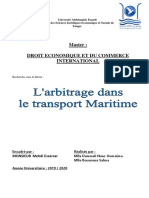 l'ARBITRAGE DANS TRANSPORT MARITIME