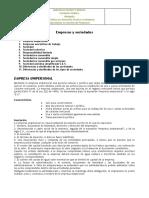 TIPOS DE EMPRESAS Y SOCIEDADES
