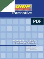 PLANEJAMENTO E POLITICAS PUBLICAS DA EDUCAÇÃO Livro Texto - Unidade I