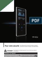 le manuel de Samsung K3 lecteur mp3!