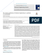 The critical contribution of chemical engineering to a pathway to sustainability