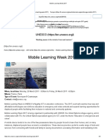 Mobile Learning Week 2017
