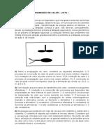 LISTA I- PRINCÍPIOS DE CONDUÇÃO CONVECÇÃO RADIAÇÃO