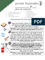 digestive system instructions
