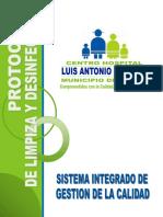 16.  Protocolo de Limpieza y desinfección Laboratorio