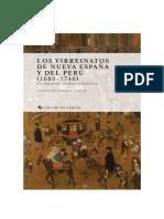 Lavallé (2019) Los virreinatos de Nueva España y el Perú.