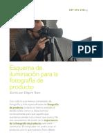 Iluminación para la fotografía de producto_ esquemas y consejos