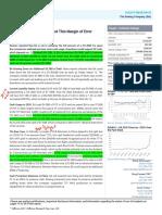 Jefferies-Post-Financing Liquidity, but Thin Margin of Error