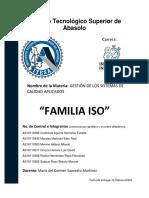 Cuadro Comparativo Familias ISO
