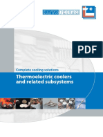 Complete cooling solutions - Thermoelectric coolers and related subsystems