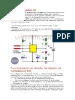 Detector de Humedad Con NE555