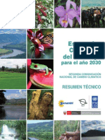 Escenarios climáticos del rio Mayo al 2030. Resumen técnico