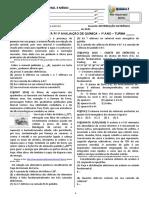 1ª Atividade Avaliativa para 1ª Avaliação de Química - Distribuição de Eletrônica