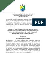 ORDENANZA DE OBVENCIONES SEP-2018