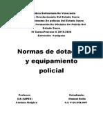 Normas de dotación y equipamiento policial