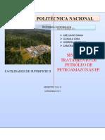 FACILIDADES DE SUPERFICIE II SISTEMA DE TRATAMIENTO DE PETROLEO DE PAM