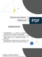 Demonstration method