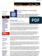 Avoid Cavitation in Centrifugal Pumps
