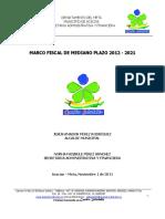 MARCO FISCAL DE MEDIANO PLAZO 2012 - 2021 ACACIAS