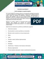 Evidencia 3 Planeacion estrategica y la Gestion Logistica