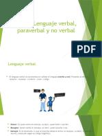 lenguaje verbal, paraverbal y no verbal