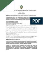 Reglamento- Evaluación- Títulos y Otros Estudios-OK
